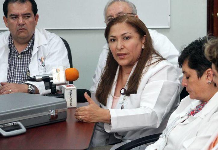 Imagen de María Flores Méndez, especialista del O'Horán, quien declaró que en Yucatán hay alta incidencia de paladar hendido. (César González/SIPSE)