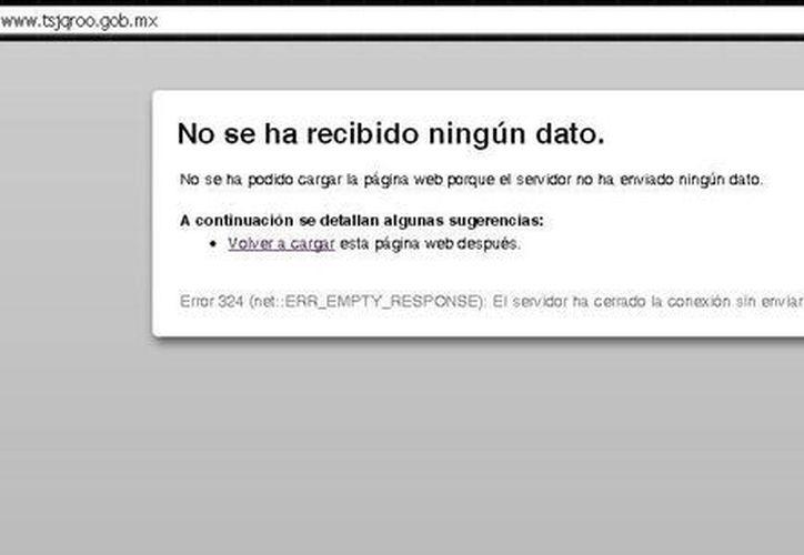 La página quedó bloqueada poco después de las 12 horas de hoy. (SIPSE)