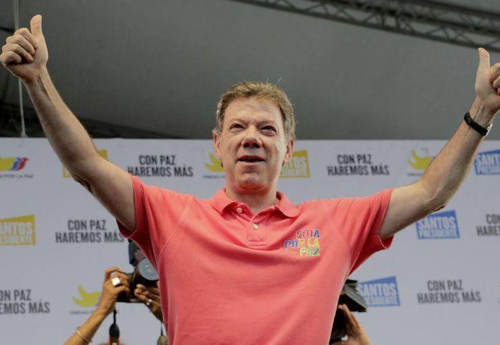 El presidente de Colombia, Juan Manuel Santos, concluyó sus eventos públicos en el departamento de Antioquia. (EFE)