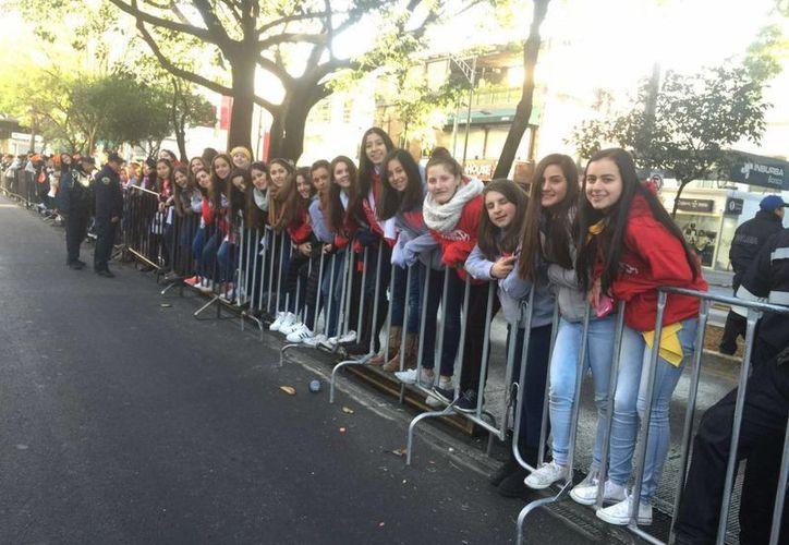 Las integrantes del grupo dijeron sentirse felices y bendecidas por el esta oportunidad de cercanía con el Papa. (Cecilia Ricárdez/SIPSE)