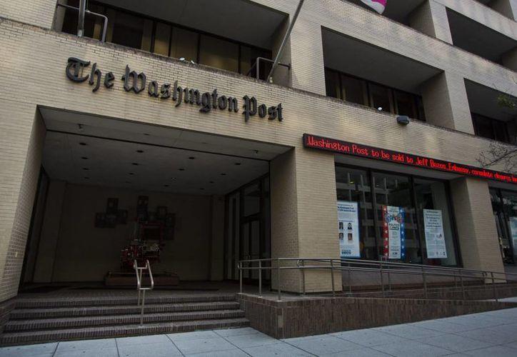 Vista general de la fachada del edificio del The Washington Post. (Archivo/EFE)