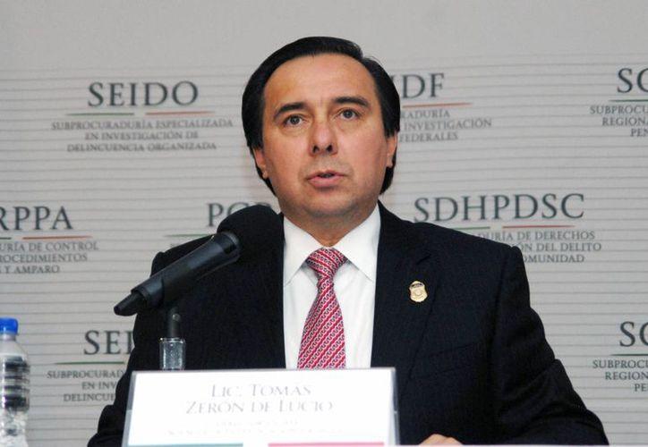 El jefe de la Agencia de Investigación Criminal, Tomás Zerón de Lucio, indicó que la captura de Omar Espejo Flores se realizó el pasado 18 de diciembre. (Archivo/Notimex)