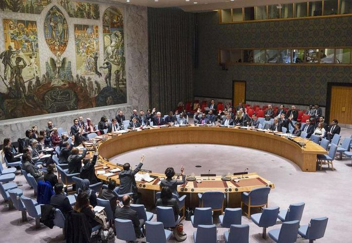 Corea del Norte anunció hoy que llevó a cabo su primera prueba con una bomba nuclear de hidrógeno. Imagen del Consejo de Seguridad de la ONU en donde se realizará una reunión de emergencia para analizar la situación. (Foto de archivo: ONU/Amanda Voisard)