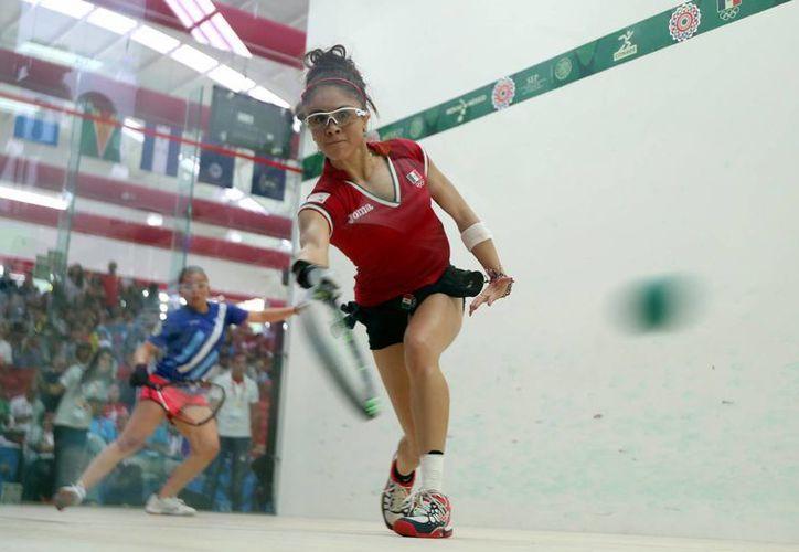 Paola Longoria busca obtener el pase por México a los Juegos Panamericanos de Toronto 2015. (Archivo/Notimex)