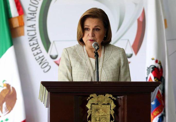 Arely Gómez, titular de la PGR, participó en la Segunda Sesión Ordinaria Zona Occidente de la Conferencia de Procuración de Justicia que se realiza en Aguascalientes. (Notimex)