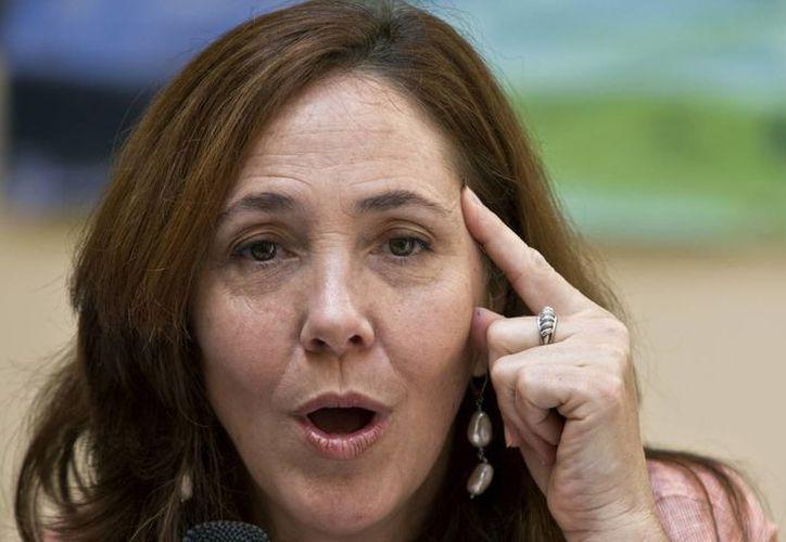 Mariela Castro durante una conferencia de prensa que ofreció el 5 de mayo del 2014 en La Habana. (Agencias)