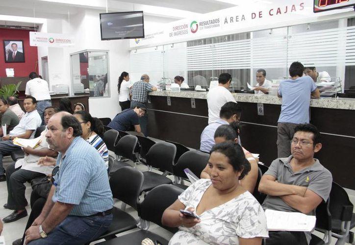 Los pagos y trámites se realizan en la Dirección de Catastro y con ellos se busca reducir la morocidad. (Tomás Álvarez/SIPSE)