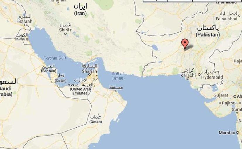 El sismo ocurrió en la provincia de Baluchistán (en rojo), la más grande del país pero la menos poblada. (Googlemaps)