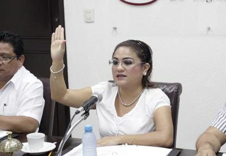 La diputada Elsa Sarabia presidió la sesión del viernes. (Milenio Novedades)