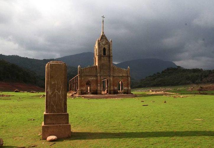 Actualmente se puede apreciar lo que quedó de la iglesia de San Isidro Labrador. (tachira.gob.ve)