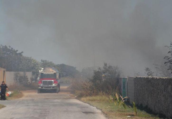 Las llamas devoraron gran parte de la maleza del predio. (Alfredo Benítez/SIPSE)