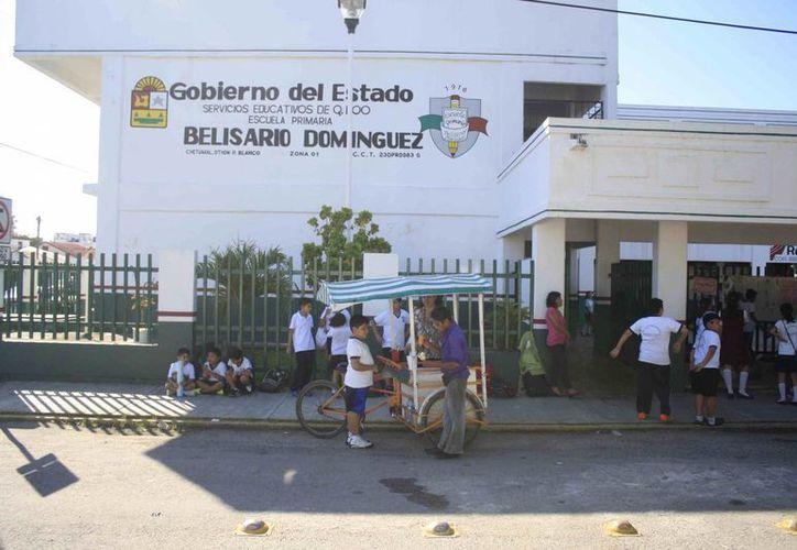 En el mensaje señalaban que los hechos sucedieron en la escuela primaria Belisario Domínguez (Harold Alcocer/SIPSE)