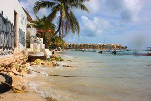 Erosión en Playa del Carmen