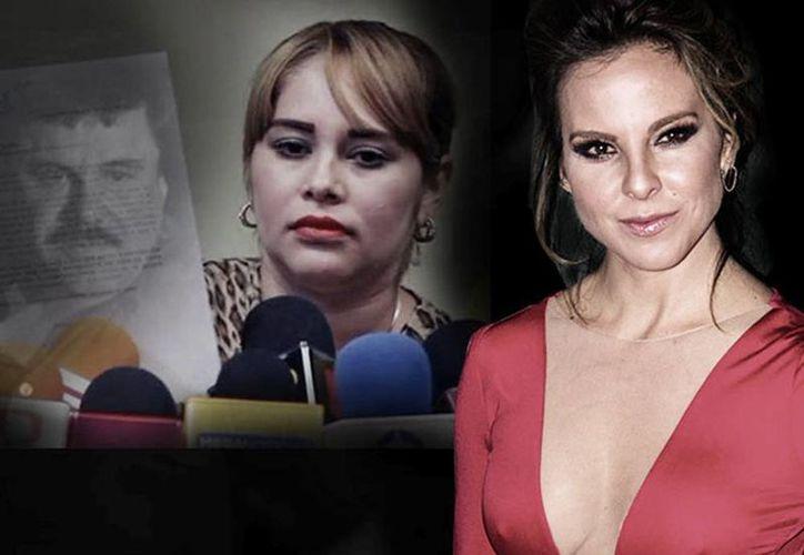 La actriz Kate del Castillo, la diputada por el PAN, Lucero Sánchez y Emma Coronel Aispuro están en la mira de la Procuraduría General de la República. (Excelsior)