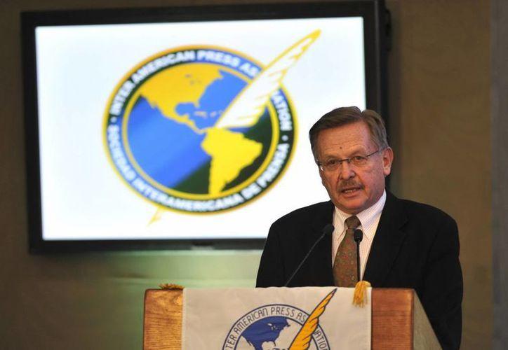 En la imagen, el periodista ecuatoriano y presidente de la SIP, Jaime Mantilla Anderson. (Archivo/EFE)