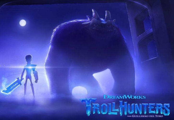 La serie 'Trollhunters', distribuida por Netflix a partir de fin de año, es una adaptación de los libros fantásticos escritos por Daniel Kraus. (DreamWorks Animation/Netflix)