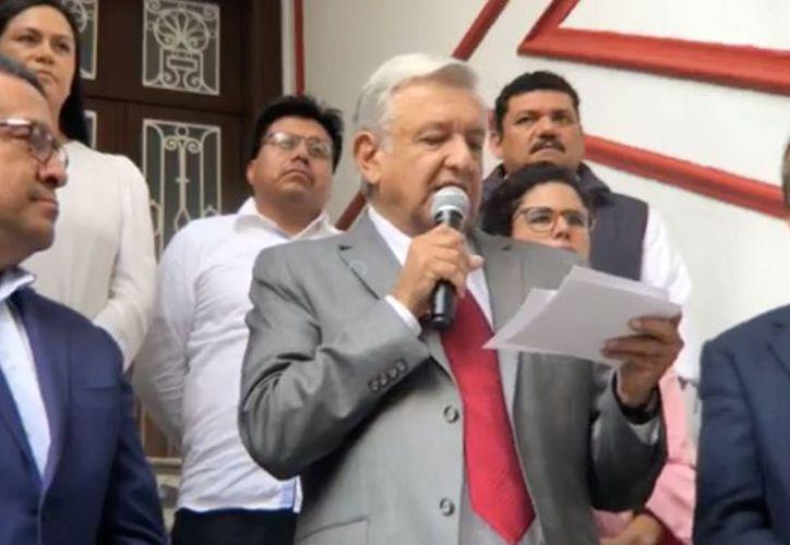 El mensaje fue realizado desde la casa de transición ubicada en la calle Chihuahua, número 216, esquina con Monterrey, en la colonia Roma. (Captura de pantalla)
