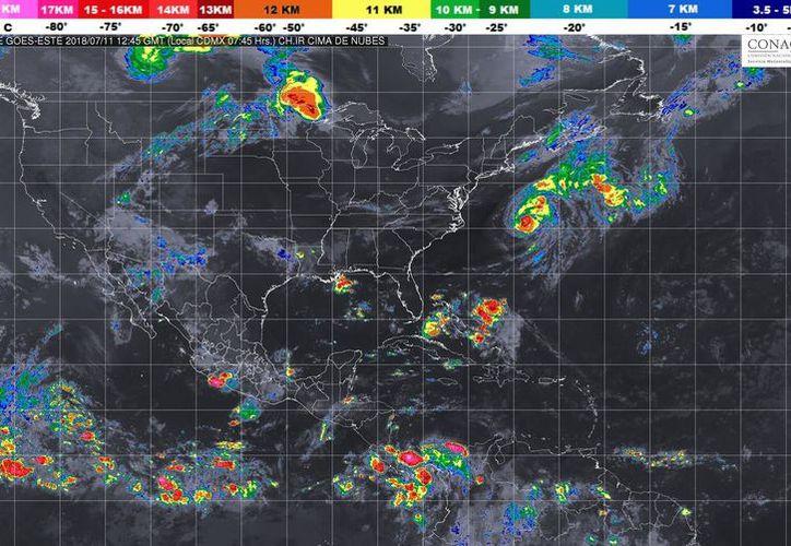 Se prevé un ambiente muy caluroso para la Península de Yucatán. (SMN)