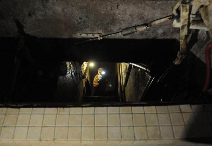 En la imagen, un túnel localizado por el Ejército en Tecate, Baja California. (Archivo/Notimex)