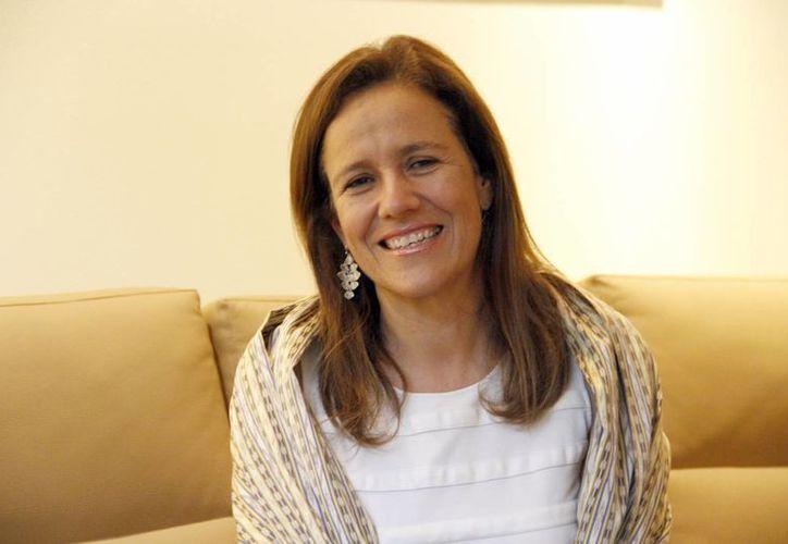 Margarita Zavala habló en entrevista exclusiva sobre sus proyectos políticos. (Israel Leal/SIPSE)