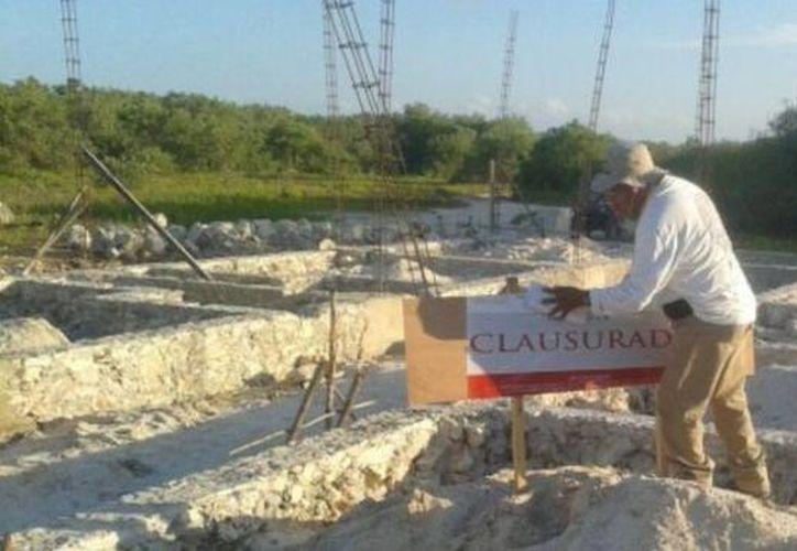 La Profepa clausuró obras construidas en Holbox. (Cortesía/Profepa)