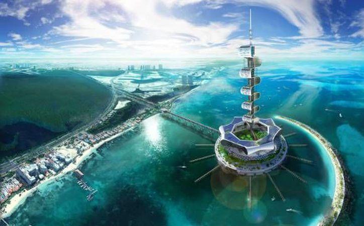 Grand Cancun Eco Island es el primer proyecto de una gigantesca plataforma marina que pretende ayudar al sitio donde será construida en vez de explotarlo. (Agencias)