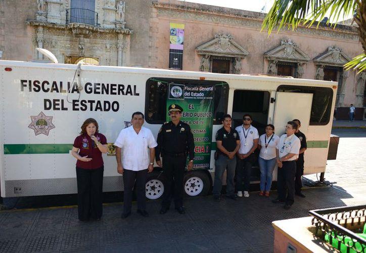 El MP móvil fue ubicado en el costado sur de la Plaza Grande, frente a la Casa de Montejo. (Cortesía)