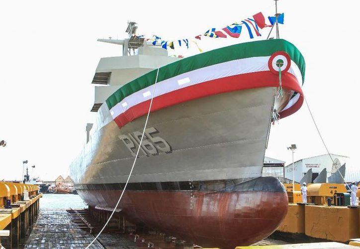 """La Patrulla Oceánica """"Chiapas PO-165"""", que inicia opeaciones el 18 de noviembre de 2015, pertenece a la quinta generación de buques en su tipo. (www.ciudadania-express.com)"""