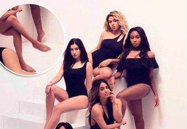 Con dos pies derechos se puede ver a Ally Brooke Hernández de Fifth Harmony en una imagen de la revista Billboard. (Quien.com)