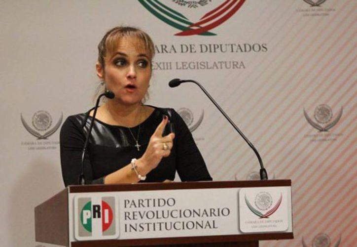 Las declaraciones de la diputada federal por Sonora, Susana Corella, se hicieron virales con el #LadyNoMeAlcanza. (Canal Sonora)