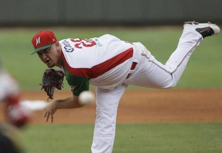 El pitcher zurdo, Randy Keisler, la nueva contratación del equipo felino. (Redacción/SIPSE)