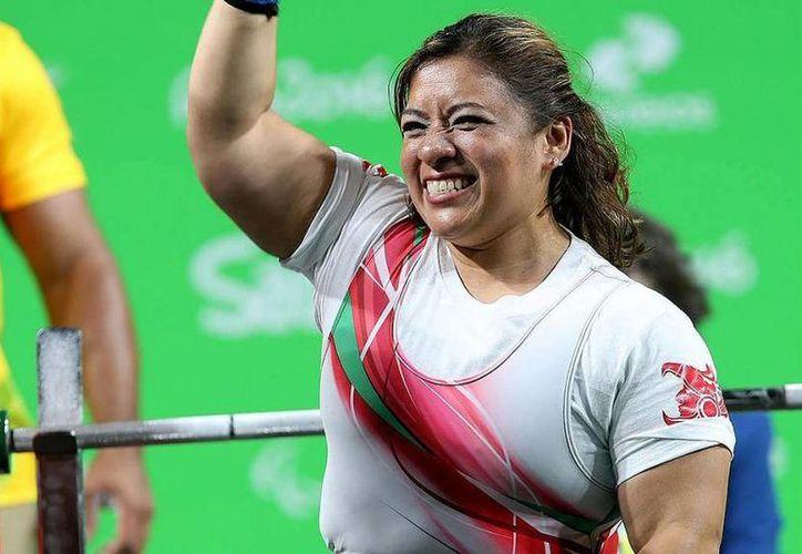 Amalia Pérez conquistó su quinta medalla Olímpica en toda su carrera deportiva. (Foto tomada de Conade)