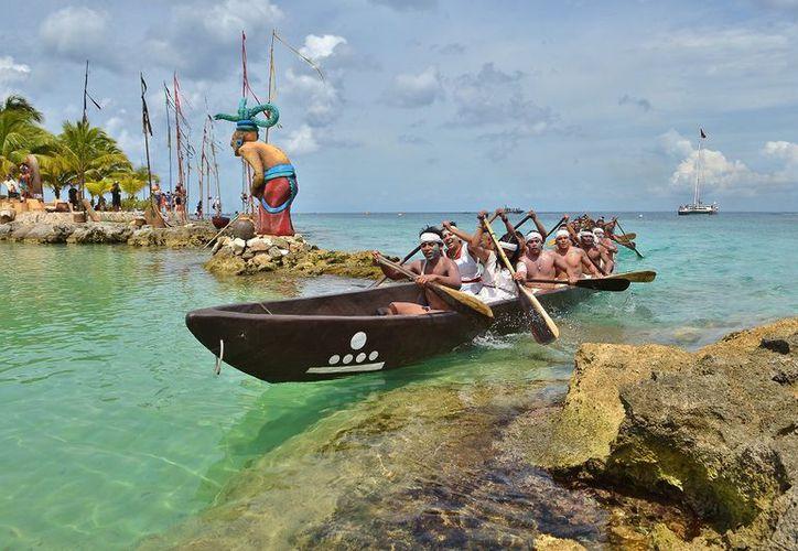 Van 12 representaciones de la travesía maya. (Foto: Gustavo Villegas)