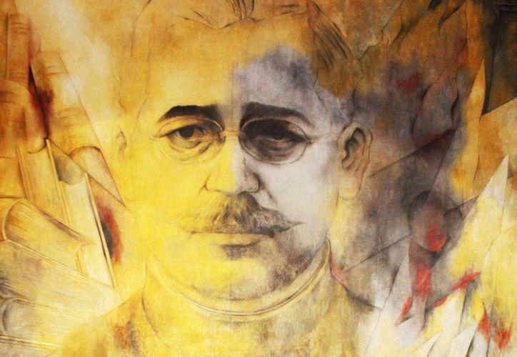 Salvador Alvarado Rubio fue gobernador de Yucatán de 1915 a 1917. Imagen del general en un mural del pintor yucateco Fernando Castro Pacheco. (Milenio Novedades)