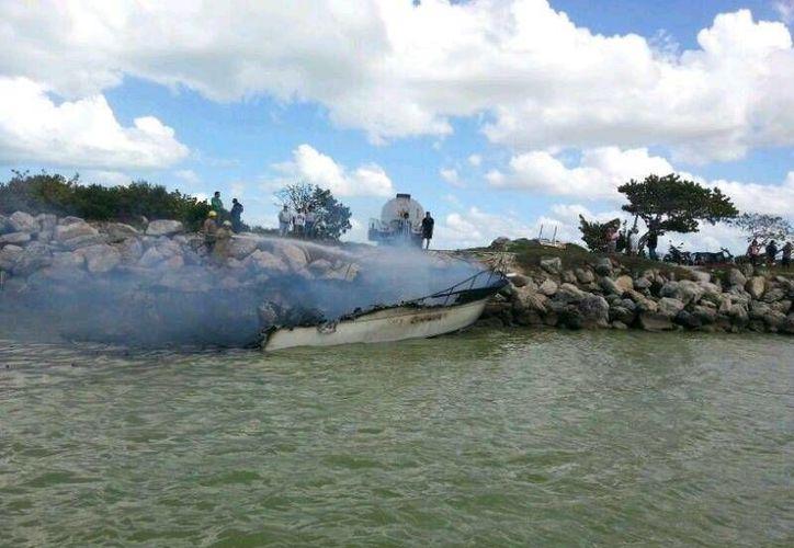 La nave fue llevada al puerto de abrigo de Chuburná. (Milenio Novedades)
