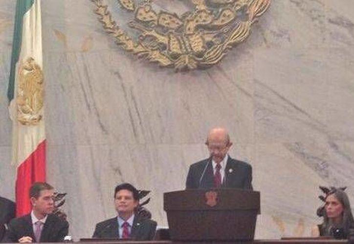 No habrá perdón ni amnistía para quienes han agraviado al estado, enfatizó el gobernador de Michoacán, Fausto Vallejo. (Foto: Gobierno de Michoacán/Milenio)