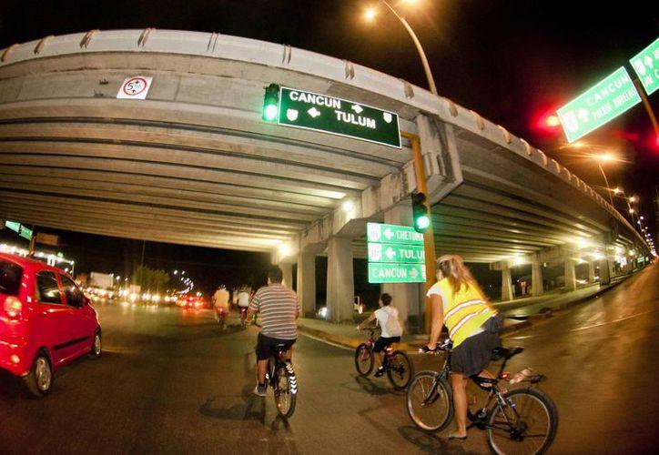 Una de las aportaciones que más ha destacado Bicineta en la ciudad ha sido el uso responsable de la bicicleta. (Octavio Martínez/SIPSE)