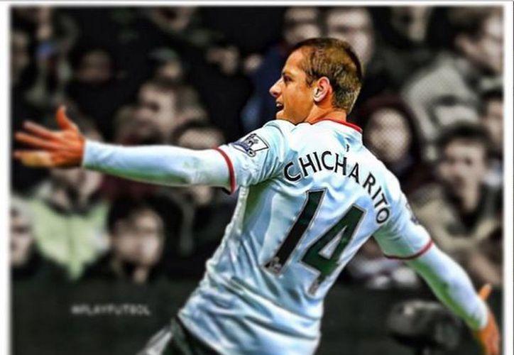 """""""Chicharito"""" dijo estar a gusto con el trabajo que ha hecho el entrenador escocés David Moyes al frente de ManU. (@CH14_)"""