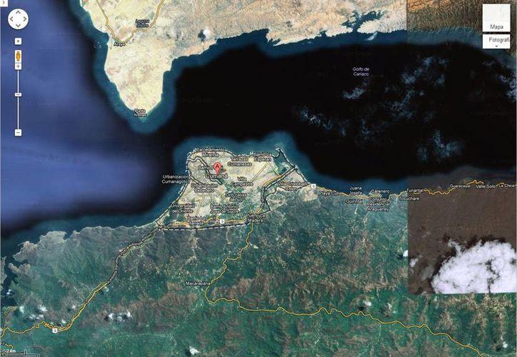 La nave amarizó 16 millas náuticas frente a la ciudad costera de Cumaná. (Captura de pantalla)