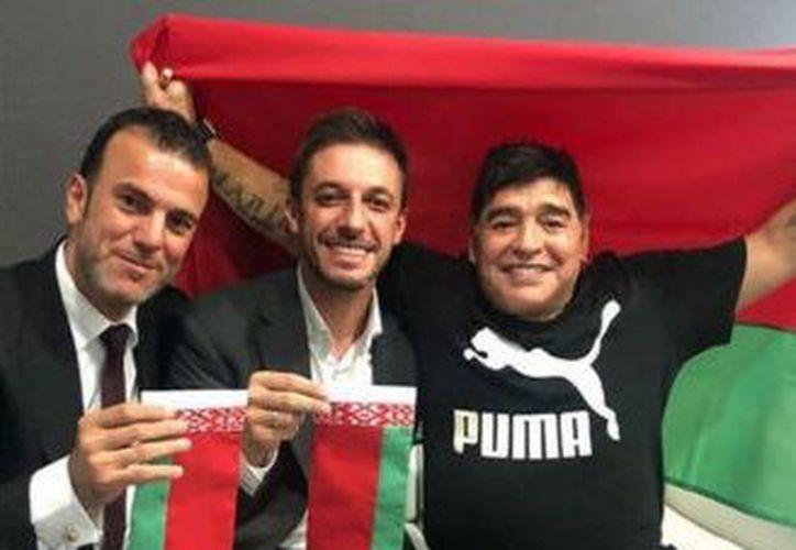 Además de ser presidente, Maradona será el responsable de todo el fútbol en la institución. (MARCA)