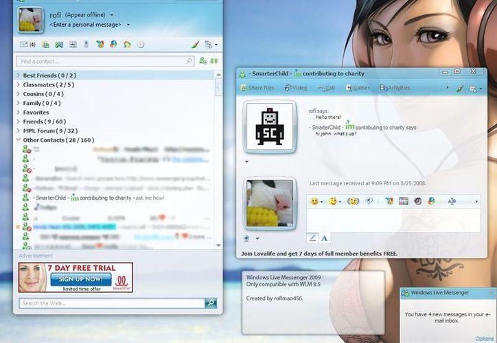 Windows Live Messenger fue uno de los pioneros en el servicio de mensajería personal. (msgplus.net)