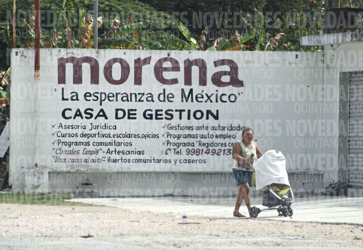 El partido Morena forma parte de la coalición Juntos Haremos Historia. (Ivette Ycos/SIPSE)