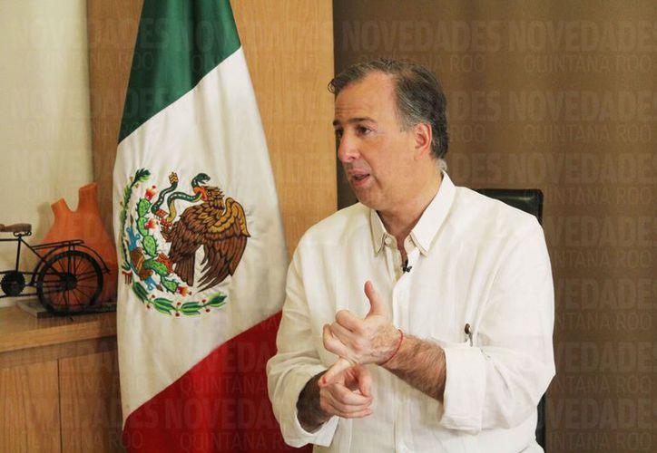 El pre candidato a la Presidencia de México dijo que la violencia ha aumentado en Quintana Roo. (Yvette Y Cos/SIPSE)