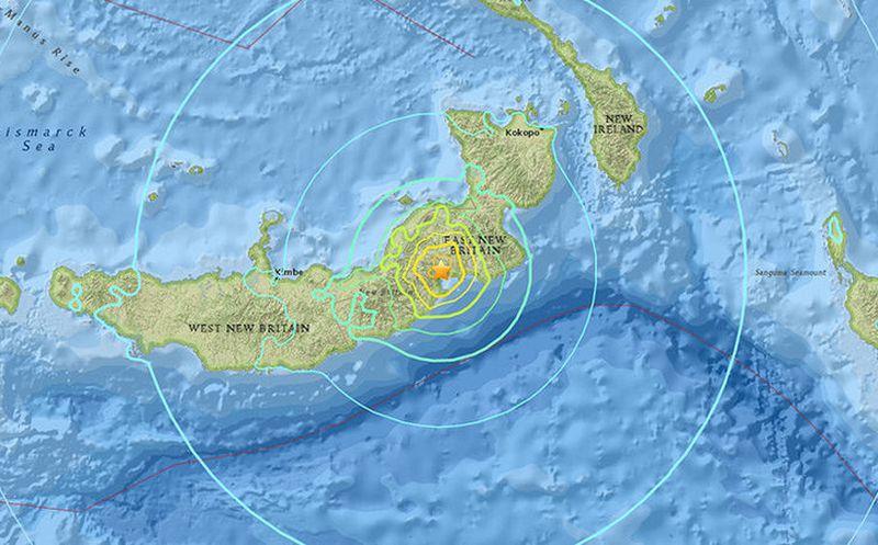 Alerta de tsunami tras un fuerte sismo 6.9 en Papúa Nueva Guinea