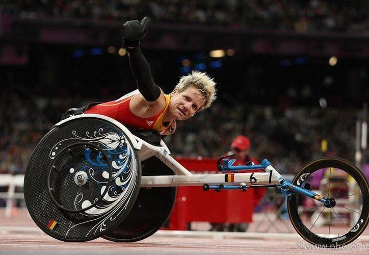 Marieke Vervoort fue diagnosticada en 2008 con una enfermedad que acabaría postrándola en una una silla de ruedas. (photo hartmann.de)