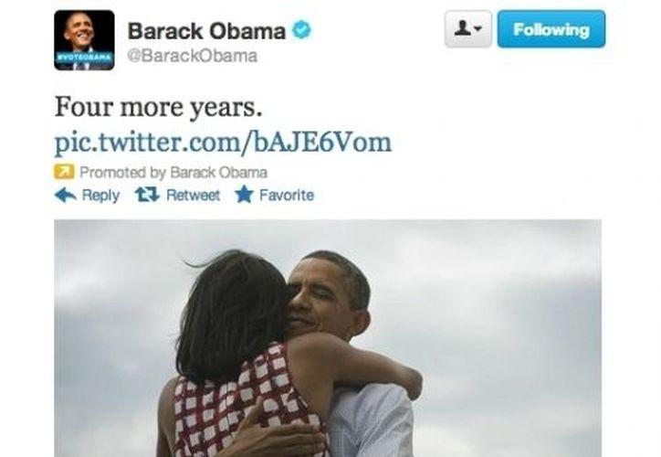 Cientos de miles de personas han republicado la fotografía de Obama a través de Twitter. (Foto: Twitter)