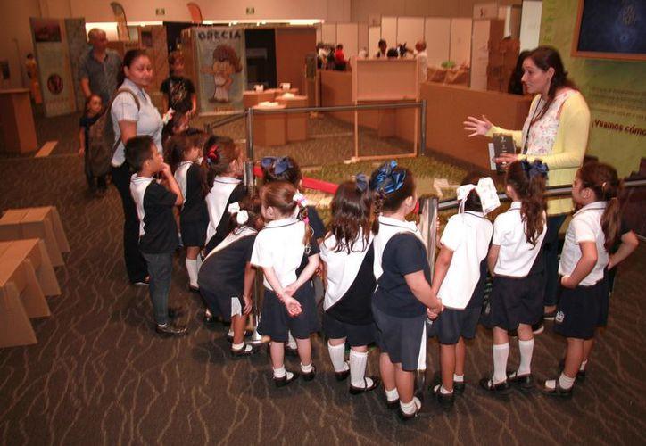 El tercer día de actividades se llevó a cabo con la visita de diversas escuelas de Yucatán. (Milenio Novedades)