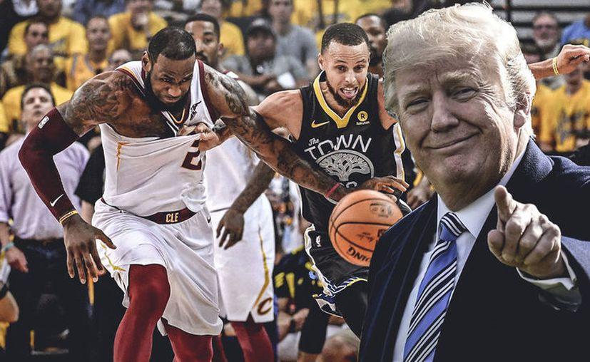'Nosotros no vamos a invitar a ninguno de los dos equipos', dijo Donald Trump previo a la final de la NBA. (Vanguardia MX)