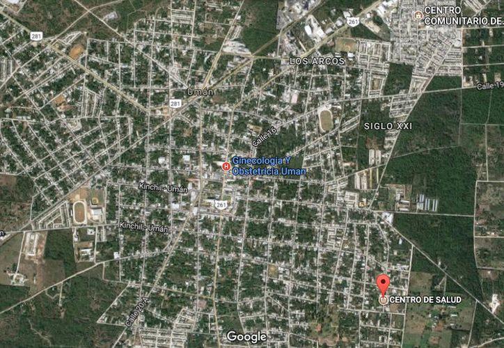 El menor fue detenido junto con sus compañeros delincuentes en un predio de Umán. (Google Maps)