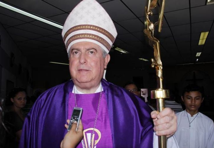 El Arzobispo de Yucatán, Emilio Carlos Berlie Belaunzarán, realizará una misa en el evento. (Archivo/SIPSE)